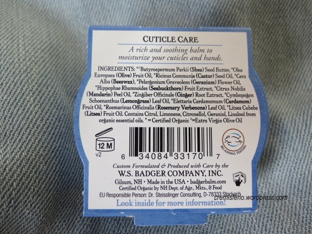 BADGER COMPANY Cuticle care balm 2