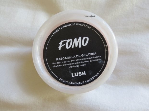 HAUL Lush Octubre 2017 mascarilla gelatina pieles sensibles FOMO
