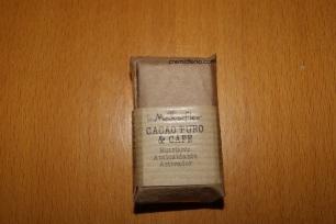 Lingote jabón de cacao y café (envoltorio)
