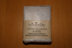 Jabón de leche de cabra y miel (envoltorio)