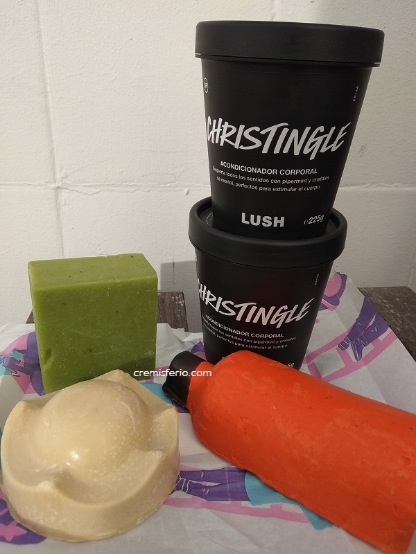 haul rebajas lush tienda - enero 2019 - christingle, cinders sólido, olive tree, king of skin