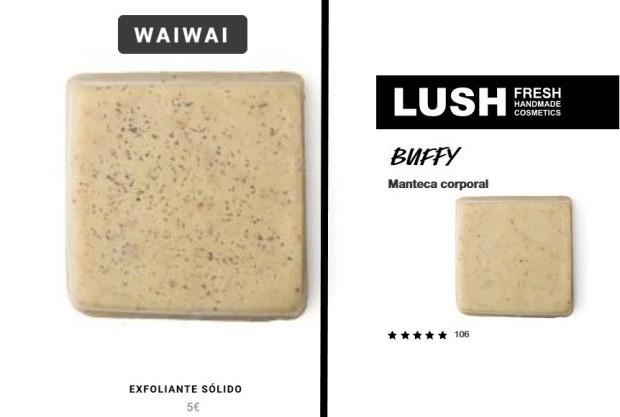 haul waiwai store - enero 2019 - exfoliante corporal vs buffy lush